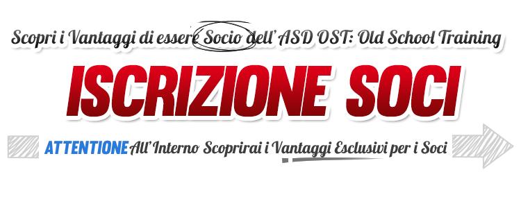 ISCRIZIONE SOCI ASD OST